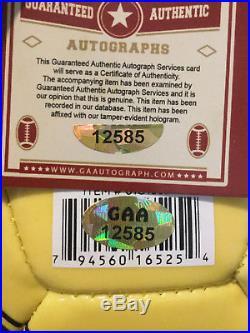 #10 Pele Autograph Brazil Logo Soccer Ball with COA Authentic Hand Signed Auto