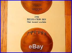 1922 WINCHESTER SHOT SHELLS Soccer Balls Display Advertising 18 x 40 Poster