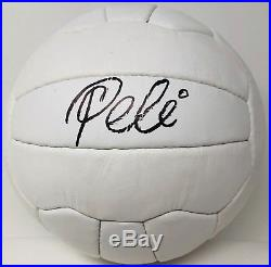 1958 WORLD CUP Pele Signed Leather Vintage Soccer Ball Autographed PSA DNA ITP