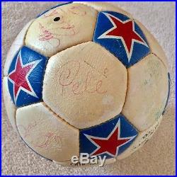 1975 Pele Autographed Official Adidas NASL Soccer Game Ball Miami Toros Auto'd