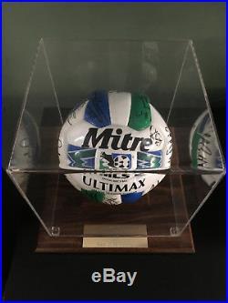 1998 San Jose Clash Autographed Team Soccer Ball & Case- Excellent