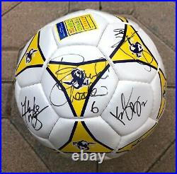 1999 U. S. WOMEN NATIONAL TEAM SIGNED WORLD CUP CHAMP SOCCER BALL WithPROOF MIAHAMM