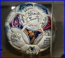 1999 Womens World Cup Autographed Soccer Game Ball Mia Hamm PLUS team #'d /99