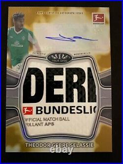 1/1 Selassie Werder Bremen 20 Topps Tier One Bundesliga Gold Match Ball Auto