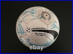 2003 04 Ball Signed R Madrid Galácticos Zidane Ronaldo Figo Beckham R Carlos
