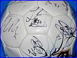 2007-08 LA Galaxy Team Autographed Soccer Ball Beckham Donovan JSA LOA #Z78158