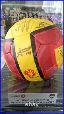 2007 A-League Grand Final signed Champions Match Ball Melbourne Victory