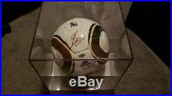 2010 World Cup Soccer Ball Signed By Lionel Messi