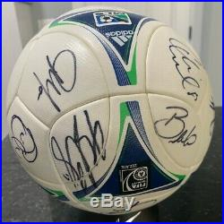 2012 MLS All-Star Team Autographed New adidas Soccer Ball