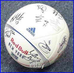 2012 New York Red Bulls Team Signed Soccer Ball 20 AUTO's Henry + PSA/DNA LOA