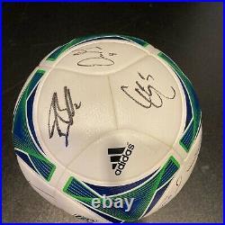 2013 MLS All Star Game Multi Signed Official Adidas Soccer Ball JSA COA