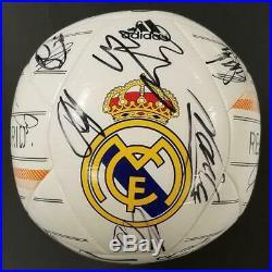 2014 Real Madrid Team Signed (25) Adidas Ball Ronaldo Ramos Casillas BAS