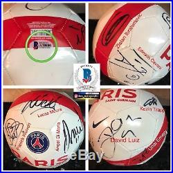2015 -2016 Paris Saint-Germain Signed Soccer Ball zlatan ibrahimovic BAS COA