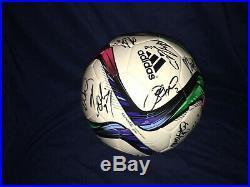 2015 Team USA Womens Soccer Signed Soccer Ball World Cup Morgan Wambach Lloyd
