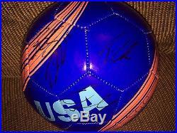2015 USA US MENS NATIONAL TEAM SIGNED BLUE LOGO SOCCER BALL PROOF COA DEMPSEY