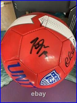 2015 USWNT SIGNED BALL With Beckett COA! Lloyd, Rapinoe, Morgan, etc 11 SIGNATURES