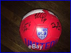 2015 Womens World Cup Champion USA Team Signed Soccer Ball Press Rampone Krieger