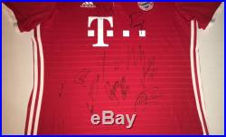 2016 FC BAYERN MUNICH Team Autographed Soccer Jersey Futbol Premier League COA