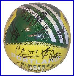 2016 Portland Timbers Team Signed Logo Soccer Ball, MLS, Autographed, Proof, COA