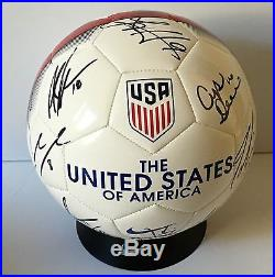 2016 USWNT US WOMENS OLYMPIC SOCCER TEAM SIGNED SOCCER BALL WithCOA PROOF  RIO 5c18f9c32718