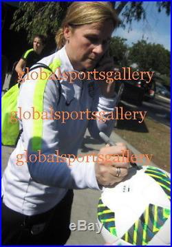 2016 team USA women's signed soccer ball Alex Morgan + Hope Solo +17 Proof
