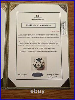 2017-2018 Real Madrid Team Signed Soccer Ball UEFA Cristiano Ronaldo Auto
