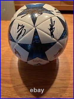 2017-2018 Real Madrid Team Signed Soccer Ball UEFA Cristiano Ronaldo Autograph