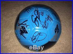 2017 Sporting Kansas City Kc Team Signed Autographed Logo Soccer Ball Coa