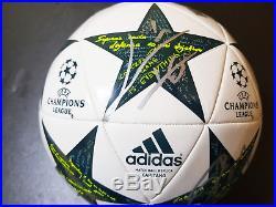 2017 UEFA CL Messi + Ronaldo Signed Official Ball + Official COA, RARE