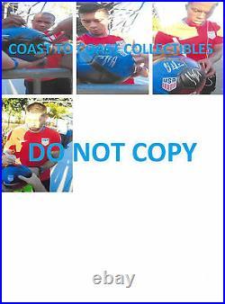 2017 USA Men's National team signed autographed USA logo soccer ball COA proof