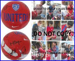 2017 USA Mens National soccer team signed USA logo ball COA proof
