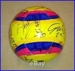 2018 CLUB SANTOS LAGUNA Mexico team hand autographed signed ball Champions Furch