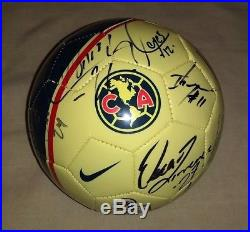 2018 Club America Liga MX Champion Team hand signed autograph Champ Mexico PROOF