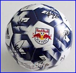 2018 Team Signed New York Red Bulls Soccer Ball withCOA Tyler Adams Phillips