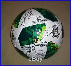 ba873c7f96b 2018 WC Ball Mexico National Team signed autographed 24 AUTOS Chucky Lozano