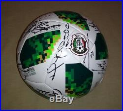 2018 WC Ball Mexico National Team signed autographed 24 AUTOS Chucky Lozano