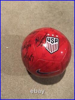 2019 USA Mens Soccer Team Signed USA Soccer Ball Pulisic Berhalter Ream Miazga