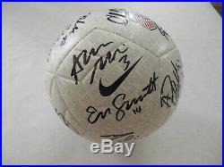 2019 USA NATIONAL WOMEN WORLD CUP USWNT TEAM SIGNED SOCCER BALL withCOA 24 AUTOS