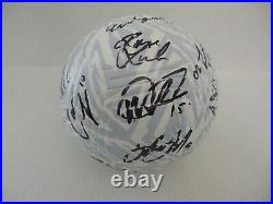 2019 USA USWNT WOMEN NATIONAL WORLD CUP TEAM SIGNED SOCCER BALL withCOA 24 AUTOS