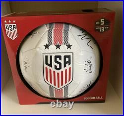 2019 USWNT USA WOMEN NATIONAL WORLD CUP TEAM SIGNED SOCCER BALL 22 Autographs