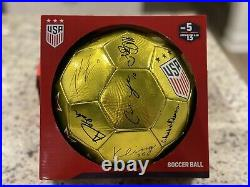 2019 USWNT USA Women National World Cup Team Signed Soccer Ball Gold Edition