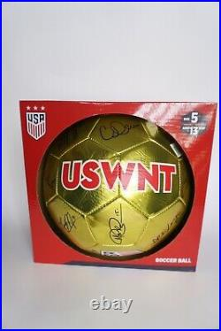 2019 USWNT WOMEN NATIONAL WORLD CUP TEAM SIGNED GOLD SOCCER BALL 22 Autographs