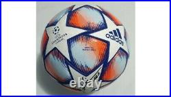2020 Match Used Barcelona Vs Kiev Soccer Ball Signed By Lionel Messi & Griezmann