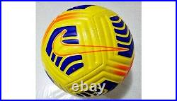 2021 Match Used Cagliari Milan Serie A Nike Soccer Ball Signed By IIbrahimovic