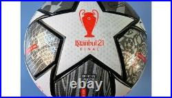 2021 Match Used Liverpool Leipzig Champions League Soccer Ball Salah Mane Signed
