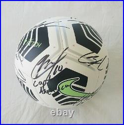 2021 USA Men's Soccer Team Signed Soccer Ball Concacaf Nations Pulisic Horvath