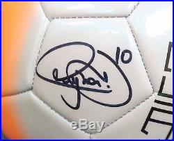 202215 Neymar Signed Full Size NIKE Orange Silver Soccer Ball AUTO PSA/DNA COA