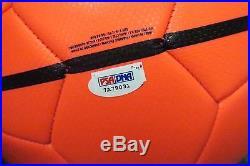 31643 Neymar Signed Full Size NIKE Orange Silver Soccer Ball AUTO PSA/DNA COA