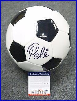 31647 Pele Signed Full Size Brazil Soccer Ball AUTO Autograph PSA/DNA COA HOF