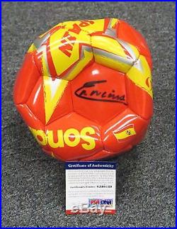 32315 Andres Iniesta Signed Full Size SPAIN Soccer Ball AUTO PSA/DNA COA